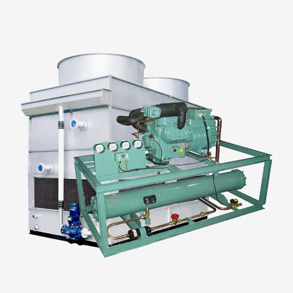 Evaporative Two Stage Piston Type Industrial Water Chiller