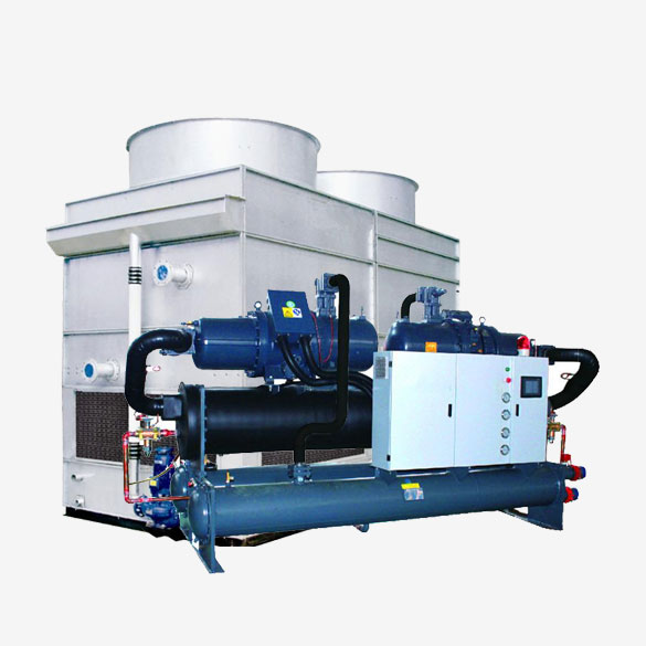 Evaporative Two Stage Screw Type Industrial Water Chiller