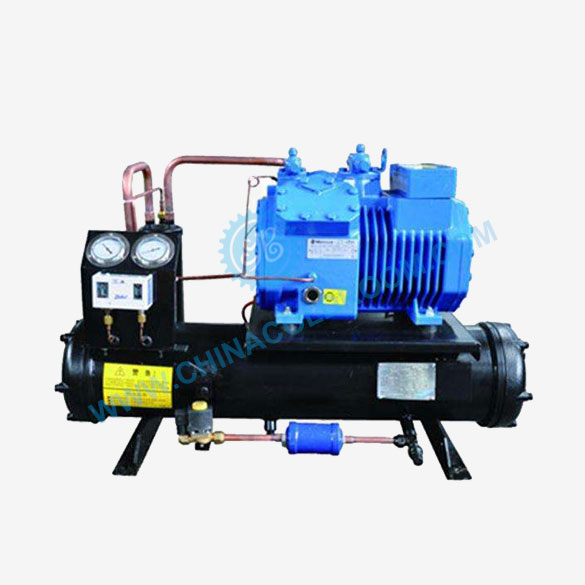 Water-Cooled Condensing Unit for Low Temperature Storage