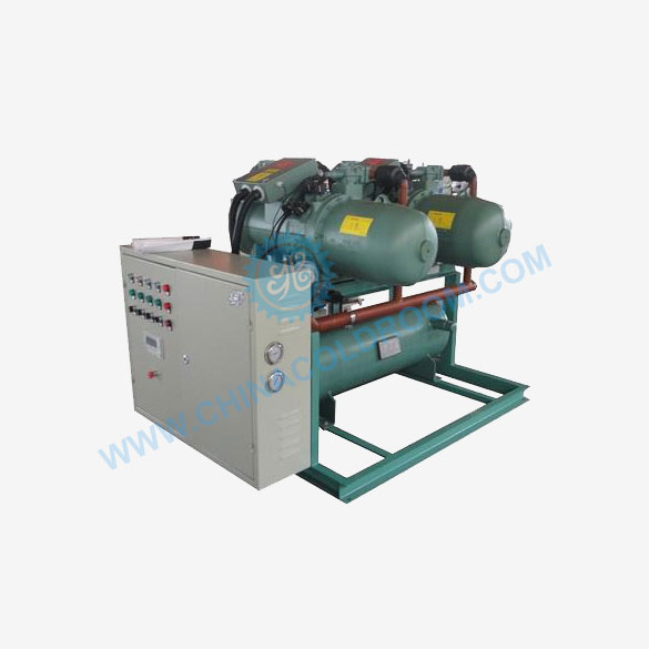 Water-cooled Semi-hermetic Screw Compressor Rack
